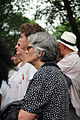 Grey haired woman with glasses and young man in crowd - 50th Anniversary of the March on Washington for Jobs and Freedom.jpg