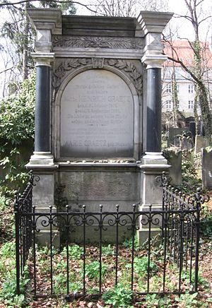 Heinrich Graetz - Graetz's tomb in the Jewish Cemetery in Wrocław