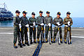Group Portrait of Reverse Members of ROCMC Silent Drill Platoon in Zuoying Naval Base 20151024.jpg