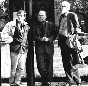 Visual semiotics - The Mu Group µ in 1991 : J.-M. Klinkenberg, P. Minguet, F. Edeline.