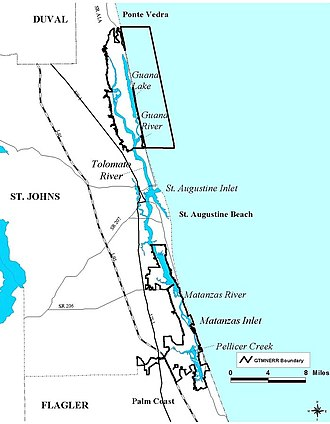 Guana Tolomato Matanzas National Estuarine Research Reserve - Image: Gtmnerrmapb NOAA