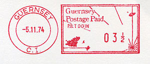 Postage stamps and postal history of Guernsey - A modern meter stamp of Guernsey