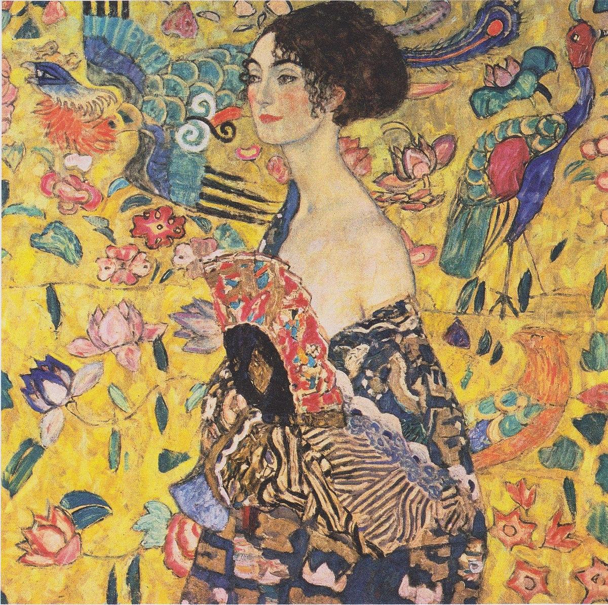 Datei:Gustav Klimt - Dame mit Fächer.jpeg – Wikipedia