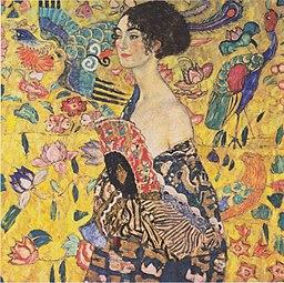 Gustav Klimt - Dama z wachlarzem