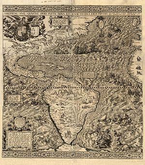 Etymology of California - This 1562 map Americae Sive Quartae Orbis Partis Nova Et Exactissima Descriptio by Diego Gutiérrez was the first map to print the toponym California.
