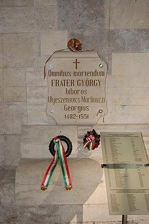 George Martinuzzi - Utješenović's grave in Alba Iulia Cathedral