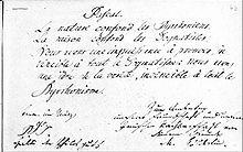 Eintrag Hölderlins im Stammbuch des Studenten Johann Camerer, Jena, März 1795 (Quelle: Wikimedia)