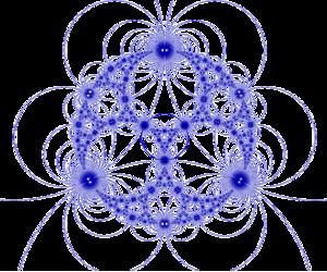 Infinite-order triangular tiling - Image: H3 33inf UHS plane at infinity