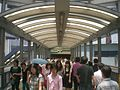 HK Central Elevated Walkway 中區行人天橋 Queen's Road 2 old market building noon.JPG