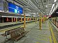 HK MTR Station 火炭站 Fo Tan platform night long bench seats Nov-2013.JPG