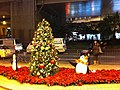 HK Tai Kok Tsui evening 新九龍廣場 New Kowloon Plaza Cherry Street Xmas tree Dec-2012.JPG