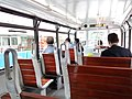 HK Wan Chai tram interior wood seats n visitors November 2016 Lnv2.jpg