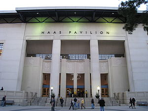 The exterior of Haas Pavilion on the UC Berkel...