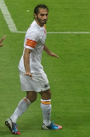 Hamit Altıntop - Altintop playing for Galatasaray in 2012