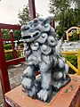 Handcrafted stone lion stone art on chandigarh Japanese Garden.jpg