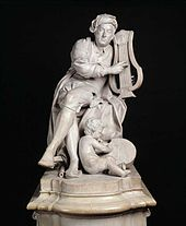 A carved marble statue of Handel at the Victoria and Albert Museum, London, created in 1738 by Louis-François Roubiliac (Source: Wikimedia)