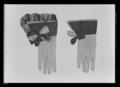 Handskar av svart, slät atlas broderad med svart silke. Har tillhört Karl X Gustav (1622-1660) - Livrustkammaren - 43542.tif