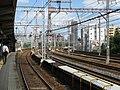 Hankyu Kasuganomichi Station platform - panoramio (9).jpg