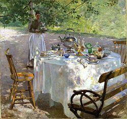 PAULI Hanna (1864-1940) Breakfast-Time