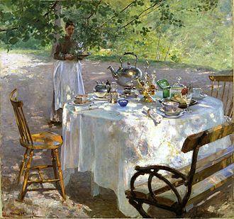 Breakfast Time (painting) - Image: Hanna Pauli Frukostdags