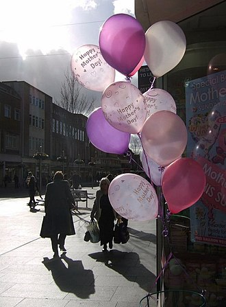 Mother's Day - Balloons outside, in the week before Mothering Sunday 2008