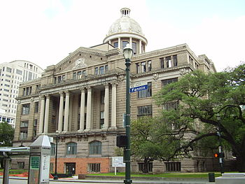 English: Harris County 1910 Courthouse Español...