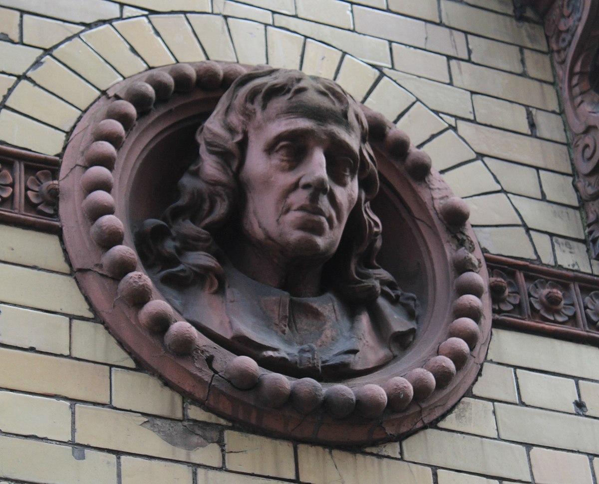 Head of John Milton, 13 Saint Stephens St, Bristol.jpg