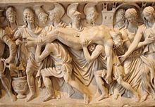 اخيل وهيكتور اساطير العهد القديم  قصة روعة  220px-Hector_brought_back_to_Troy