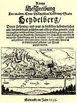 Flyer on Destruction, 1693