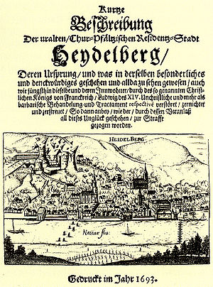 Heidelberg Castle - Pamphlet on the Destruction of the Castle, 1693.
