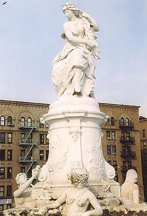 Deutsch: Heinrich-Heine-Denkmal in der Bronx, ...