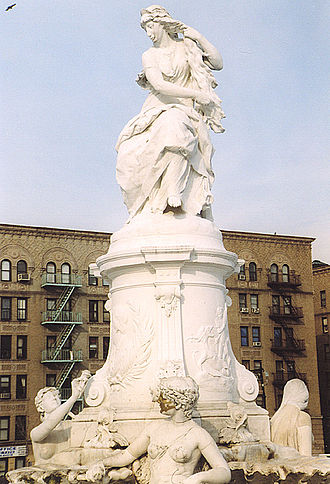 Lorelei - Lorelei Monument by Ernst Herter, a Heinrich Heine memorial in the Bronx, New York City