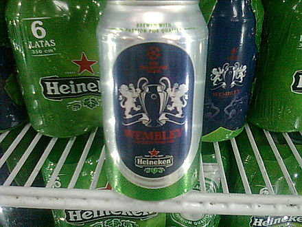 A can of Heineken with a logo of the 2011 UEFA Champions League Final Heineken can 2011 UEFA Champions League Final.jpg