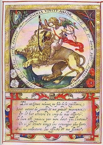 The Lion in Love (fable) - Image: Heinsius Emblem Quaeris quid 7