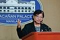Helen dela Vega - Malacañan Press Briefing (02).jpg