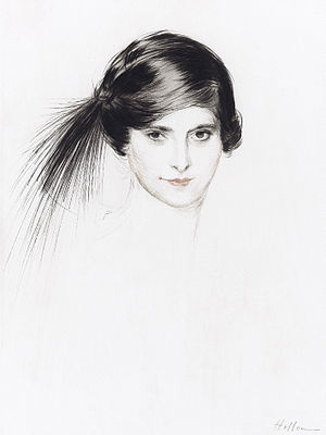 Helena Rubinstein by Paul César Helleu (1859-1927) cropped