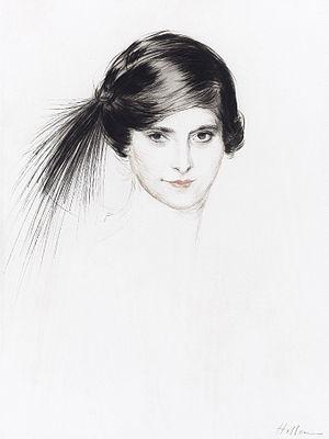 Helena Rubinstein by Paul César Helleu (1859-1927) cropped