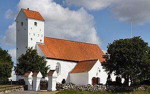 Religion in Denmark - Helgenæs Kirke, a typical parish church.