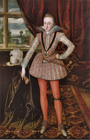 Textile arts - This portrait illustrates the practical, decorative, and social aspects of the textile arts. Henry Frederick, Prince of Wales by Robert Peake the Elder, 1610.