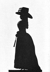 Luise von Hessen-Darmstadt Scherenschnitt um 1880 von Starke (Quelle: Wikimedia)