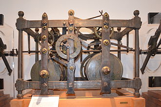 Clock from Thwaites & Reed, 1817, now in Hessenpark, Germany Hessenpark, Haus aus Laubach, Uhr Thwaites & Reed 1817.JPG