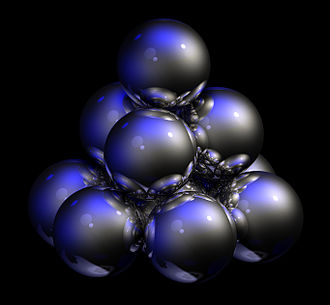 Close-packing of equal spheres - Image: Hexagonal close packed unit cell
