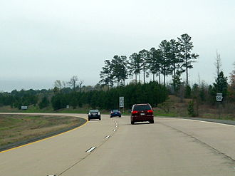 Interstate 49 in Arkansas - What is now I-49 north of the US 71 junction