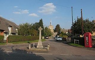 Hinxton village in South Cambridgeshire, England