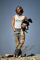 Hitchhiker with his dog on U.S. 66 (1972).jpg