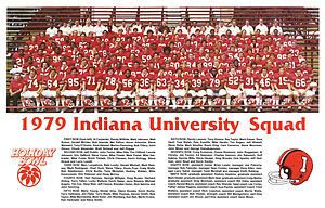 1979 Indiana Hoosiers football team - Team Photo of the 1979 Holiday Bowl