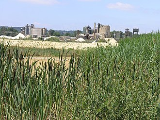 Redhill, Surrey - Holmethorpe Quarry, before residential development