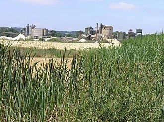 Redhill, Surrey - Holmethorpe Quarry, before residential development
