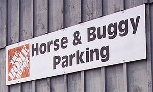 The Home Depot In Waterloo Ontario Provides Horse And Buggy Parking For Customers From Nearby Mennonite Community