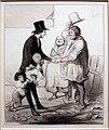 Honoré victorin daumier, lo scherzo dell'elezione, 1844, litografia.jpg